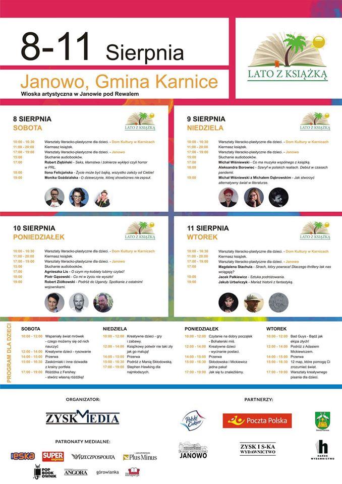 """""""Lato z książką"""" – 8-11 sierpnia, Janowo k. Rewala."""